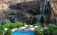 Underground lava fissures heat the waters in Jordan's Ma'In Hot Springs, and the thermal waterfalls are perfect for a natural deep-tissue massage. (From: Photos: 12 Gorgeous Hot Springs)