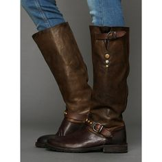 Free People Hollywood Trading Company HTC Hurricane Tall Boot ($600) ❤ liked on Polyvore
