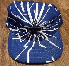 d742aef5ab4 Dallas Cowboys Vintage Snapback Starter Quake Shatter Hat NFL Pro Line Cap  Nfl Pro