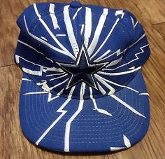 Dallas Cowboys Vintage Snapback Starter Quake Shatter Hat NFL Pro Line Cap  Nfl Pro a3d6592b28ab