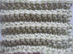 Basics :: How to crochet horizontal & vertical  ribbing