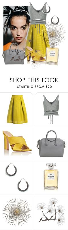 """""""Fresh glow"""" by sofiacalo ❤ liked on Polyvore featuring Haider Ackermann, Sans Souci, Alexander Wang, Gianvito Rossi, Givenchy, Sole Society and Chanel"""