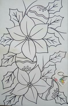 Christmas Colors, Christmas Art, Christmas Decorations, Christmas Drawing, Christmas Paintings, Embroidery Patterns Free, Hand Embroidery Designs, Autumn Painting, Christmas Coloring Pages