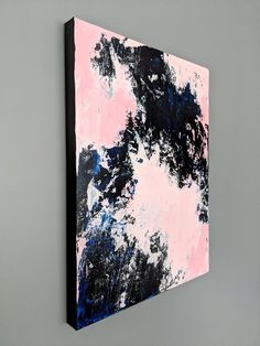 Original Abstract Painting Blue Abstract Canvas Art Abstract | Etsy Abstract Canvas Art, Pink Abstract, The Originals, Artwork, Painting, Etsy, Work Of Art, Auguste Rodin Artwork, Painting Art