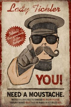 """You need a moustache! Ideal for """"growling at the badger"""" [link] Moustache. Beard Images, Handlebar Mustache, Awesome Beards, Dirty Dancing, Thoughts And Feelings, Beard Styles, Bearded Men, Bad Boys, Funny Memes"""
