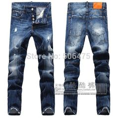 new style, fashion DSQ brand Men's jeans Classic casual slim jeans high quality cozy straight men's D2 jeans free shipping Price: US $46.58