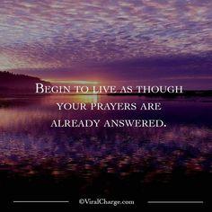 Answered prayer.