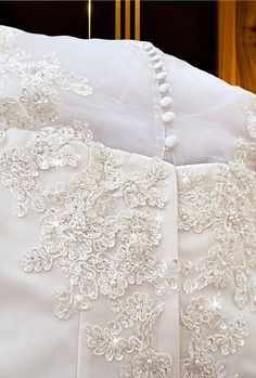bridal lace applique and beadwork with covered buttons. Php4,000 rental.   www.gownforent.com   Debut, flores de mayo, pageant, sta cruzan, gala, wedding, bridal  Viber/Telegram/Line/Whatsapp: 09983606102   www.gownforent.com   Facebook: manilagowns   Instagram: gownforent Bridal Lace, Manila, Covered Buttons, Lace Applique, Pageant, Beadwork, Wedding Gowns, Bed Pillows, Pillow Cases