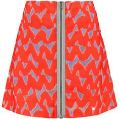 Markus Lupfer Mesh-cutout cotton-blend twill skirt ($205) ❤ liked on Polyvore featuring skirts, mini skirts, red, mini skirt, mesh cut out skirt, cut out skirt, markus lupfer and mesh mini skirt