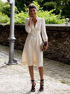 Italian Street Style (in love with this dress --made modern with the shoes...)