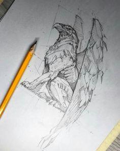 Sport illustration art drawing sketch 50 ideas for 2019 Animal Sketches, Art Drawings Sketches, Tattoo Sketches, Animal Drawings, Cool Drawings, Tattoo Drawings, Griffon Tattoo, Illustration Art Dessin, Pencil Art