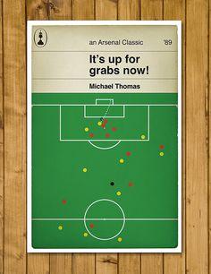 Arsenal FC  Michael Thomas  Penguin Classic by headfuzzbygrimboid