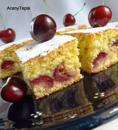 Cherry & coconut pie in Hungarian Hungarian Desserts, Fruit Soup, Sour Cherry, Healthy Sweets, Bakery, Cheesecake, Dessert Recipes, Food And Drink, Cooking Recipes