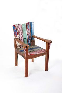 recycled boat timber chair