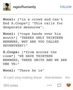 #SEVENTEEN #Woozi #SCoups I love these things!: