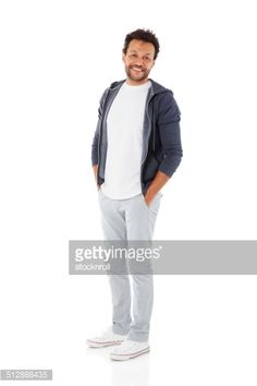 Stock Photo : Mature man posing in casuals