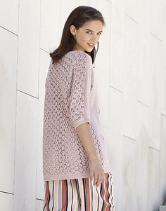 Model / Pattern of Sweater of Woman of Spring / Summer from KATIA Aqua Rose, Malva, Pastel Shades, Trends, Pullover, Color Inspiration, Knitting Patterns, Sweaters For Women, Spring Summer