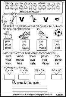 Livro famílias silábicas-letra V