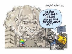 The SABC has its head in the clouds, according to Dr Jack & Curtis's cartoon