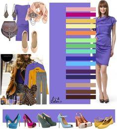 combinaciones colores ropa cualquier ocasion morado