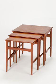 Hans Wegner Nesting Tables Teak 60s