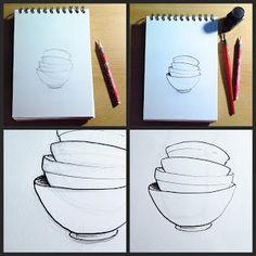 CaroLigne...: Illustrations Tasses & Tea pots en cours...Dessin ...