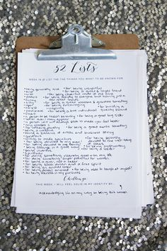 """52 Lists  //  Week 19!  """"List the things you want to be known for.""""  Learn more at moorea-seal.com"""