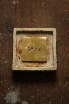 Brass Plate #2 < Table Number > - IRRE