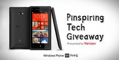 Win the latest #PinspiringTech - the new Windows Phone 8X by HTC - and experience the simplicity of Live Tiles, Data Sense, and Beats Audio firsthand.