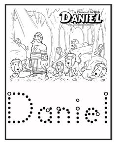Kids Bible Worksheets-Free, Printable Daniel and the Lions