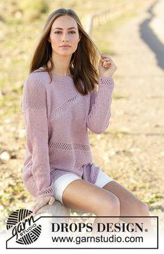 Knit eyelet sweater in Drops Belle Get this free pattern  http://ift.tt/2leETJJ Get Drops Belle for this pattern  http://ift.tt/2lKOon0