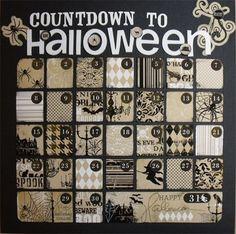 Halloween Countdown Calendar Queen Of Unfinished Projects Halloween Countdown Calendar Halloween Trees Halloween