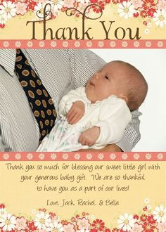 baby shower gift card thank you wording