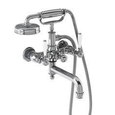 Sale item of the day| Arcade Bath Shower Mixer - Wall Mounted with Brass Handle Handset - Chrome