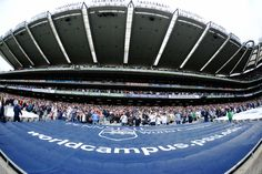 PENN STATE – FOOTBALL 2014 – FISH-EYE VIEW of Penn State section in Croke Park Stadium.