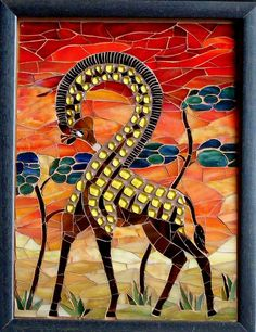 Inverse giraffe  Repined By    http://www.mosaicmosaic.com/