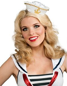 Rubies White And Gold Mini Sailor Hat Adult