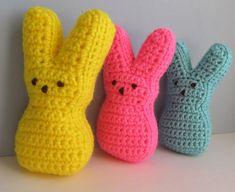 Crochet Baby Dress Pattern, Easter Crochet Patterns, Modern Crochet Patterns, Crochet Bunny, Crochet Ideas, All Free Crochet, Single Crochet, Easter Peeps, Easter Bunny