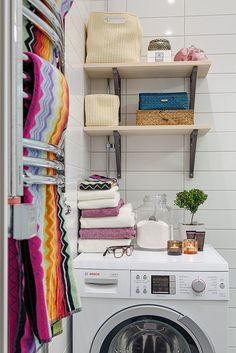 Förvaring ovanför tvättmaskin