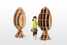 CARDBOARD FURNITURE AND TOYS FOR KIDS FROM TSUCHINOCO