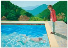 When the British artist David Hockney arrived in LA in he fell in love. The city – and its swimming pools – would become his greatest subject, writes Alastair Sooke. Portrait of an Artist (Pool with Two Figures) (Credit: David Hockney) David Hockney Pool, David Hockney Tate, David Hockney Portraits, David Hockney Paintings, Jasper Johns, Cultura Pop, Pool Paint, Modern Art, Contemporary Art
