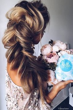 braided wedding hair ideas via ulyana aster 2 - Deer Pearl Flowers / http://www.deerpearlflowers.com/wedding-hairstyle-inspiration/braided-wedding-hair-ideas-via-ulyana-aster-2/