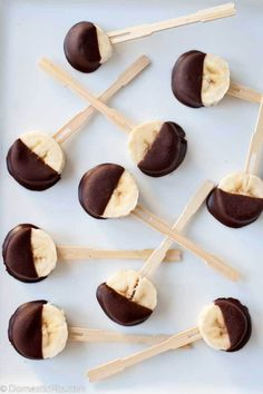 Banana Bites with Dark Chocolate