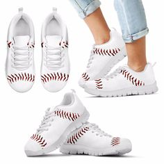 Baseball Sneakers Measure your feet, and use the sizing chart to determine the correct size! If you're a baseball fan, this is how you flaunt it! Now only $59.99! Originally $119