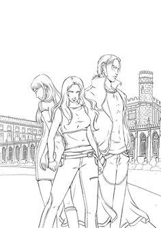 Vampire Academy cover inks by emmav.deviantart.com on @deviantART