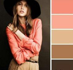 Color palette for bedroom walls Colour Combinations Fashion, Fashion Colours, Colorful Fashion, Color Combinations, Color Balance, Color Harmony, Live Coral, Coral Pink, Colour Pallette