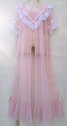 The Loneliest Doll Sheer Lingerie, Pretty Lingerie, Vintage Lingerie, Harajuku Fashion, Kawaii Fashion, Fashion Outfits, Vintage Nightgown, Peignoir, Moda Vintage