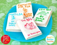 Edible Books! by BentOnBetterLunches Another wonderful #RoaldDahl-inspired lunchbox idea!