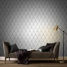 Boulevardia Foil inspired by the way Parisians have always loved to decorate with embellished trellis, which they have named Treillage. Discount Wallpaper, Cheap Wallpaper, Wallpaper Samples, Home Wallpaper, Silver Wallpaper Designs, Latest Wallpaper Designs, Wallpaper Please, Trellis Design, Foil Paper