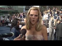 """""""Blue"""" carpet shout-outs!  Cast and crew of """"Battleship"""" show their appreciation to U.S. Navy Sailors at the premiere of the film at Nokia Theater in Los Angeles May 10, 2012. (U.S. Navy Video by Mass Communication Specialist 3rd Class David Hooper/Released)"""
